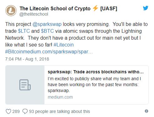Litecoin School of Crypto Supports SparkSwap Platform