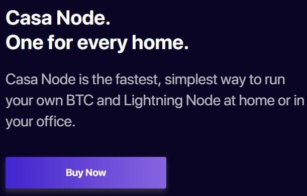 Casa Node via Homepage