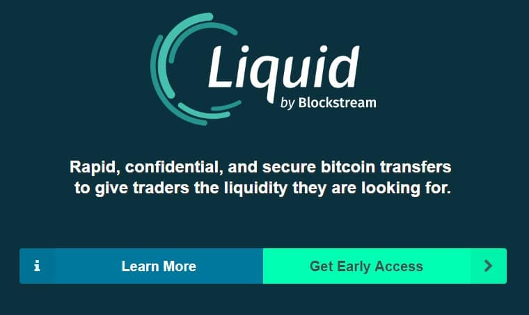 Liquid via Blockstream Homepage