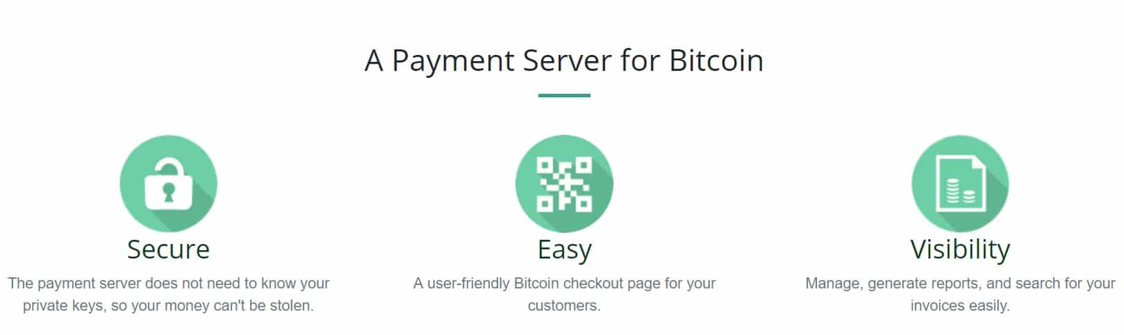 BTCPay via Homepage