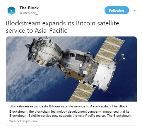 Blockstream Satellite Lightning Network