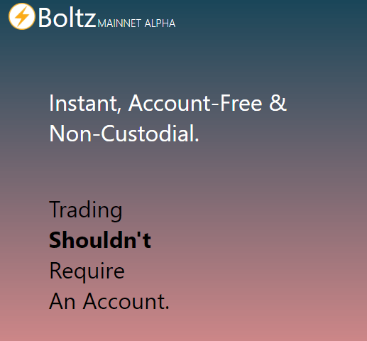 Boltz via Homepage