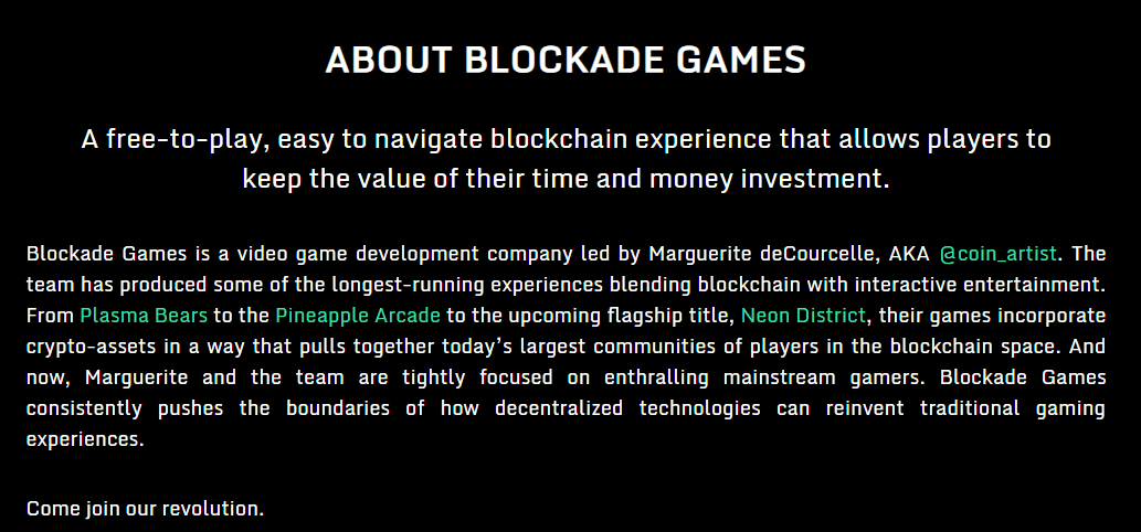 Blockade Games via Homepage