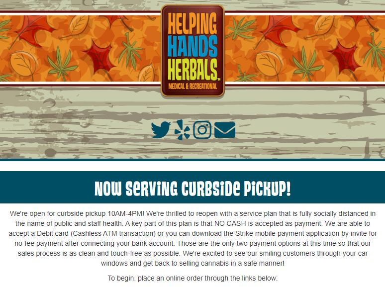 Helping Hands Herbals via Homepage -STRIKE