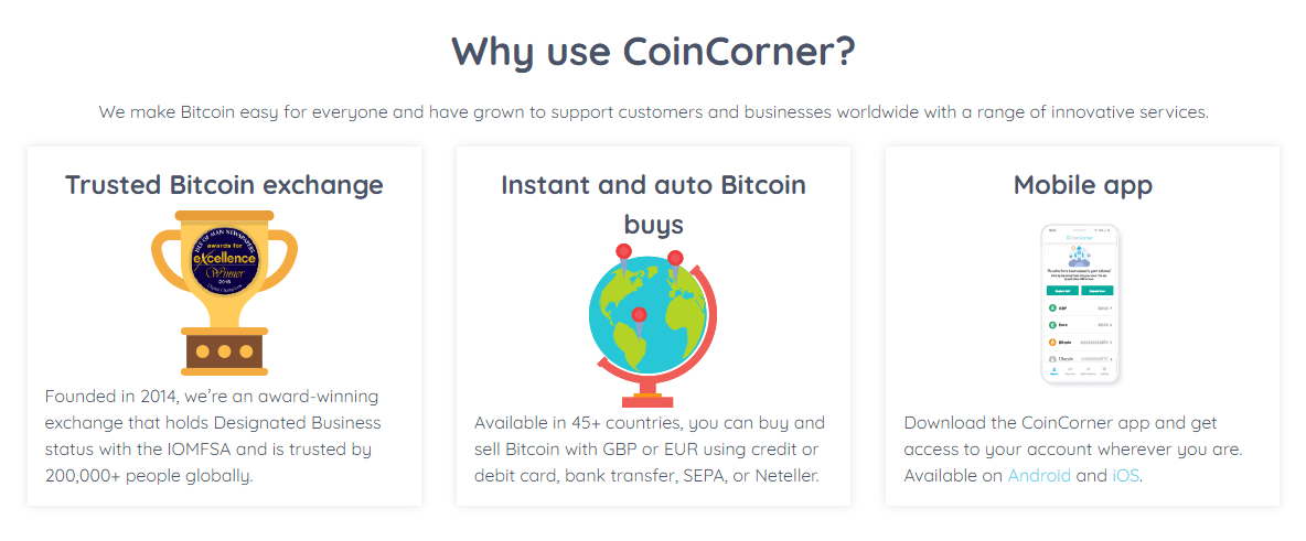 CoinCorner Homepage
