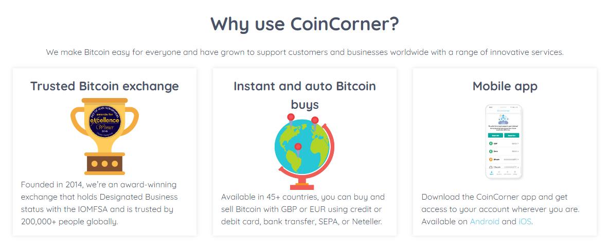CoinCorner Homepage