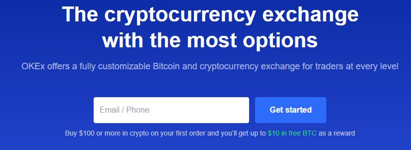 OKEx Homepage